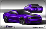 AC639FSC - Advan Design 2010-2013 Chevy Camaro Carbon Fiber Front Splitter