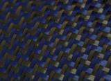 Dual Blue Carbon/ Kevlar Twill Weave Option