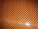 Orange Carbon/ Kevlar Twill Weave Option