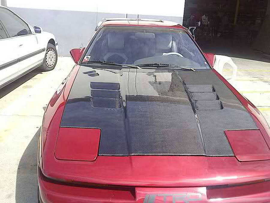 AC868HCV - Advan TS Design 1986-1992 Toyota Supra MK-III Carbon Hood