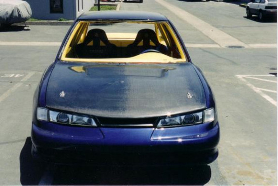AC705HC - Advan OEM Design 1997-1998 Nissan 240SX S14 Kouki Carbon Fiber Hood