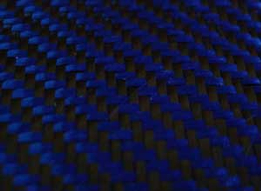 Blue Carbon/ Kevlar Twill Weave Option