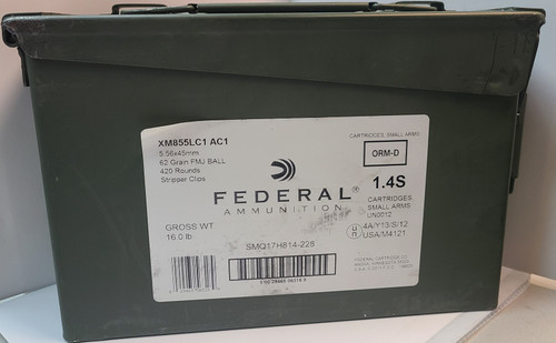 Federal 5.56x45MM Ammo Can