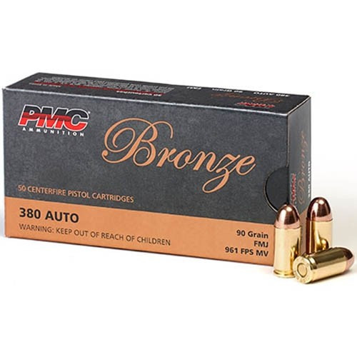 PMC .380 (Case) 90 Grain Brass FAST Shipping