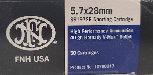 FNH USA 5.7x28 40 Grain Hornady V-Max