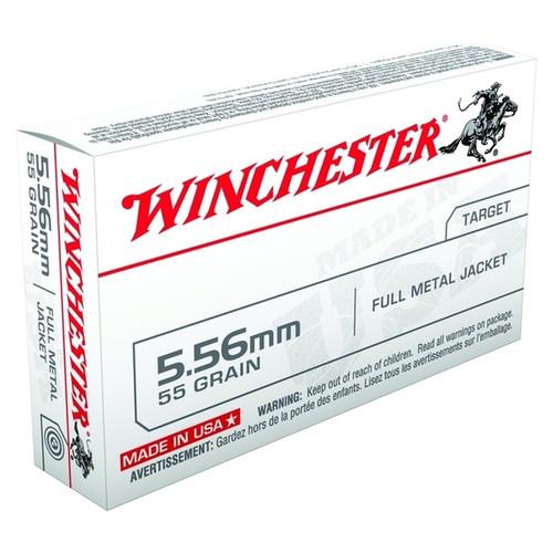 Winchester 5.56 Brass Case, New, 55 Grain, FMJ.