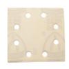 "Klingspor Abrasives Stearated Aluminum Oxide, 4-1/4"" X 4-1/2"" 8 Hole, H&L, 1/4 Sheet,  80 Grit, 10pk PC340 & Dewalt 411"