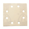 "Klingspor Abrasives Stearated Aluminum Oxide, 4-1/4"" X 4-1/2"" 8 Hole, H&L, 1/4 Sheet, 320 Grit, 10pk PC340 & Dewalt 411"