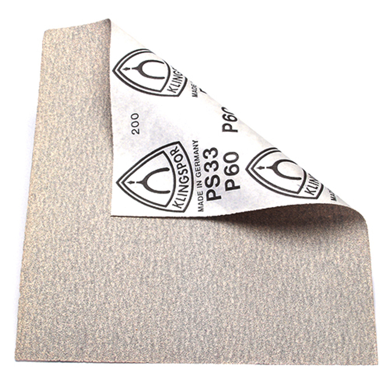 "Klingspor Abrasives 120 Grit, Stearate Aluminum Oxide, Paper Backed, 9""x 11"" Sheets, 50pk"