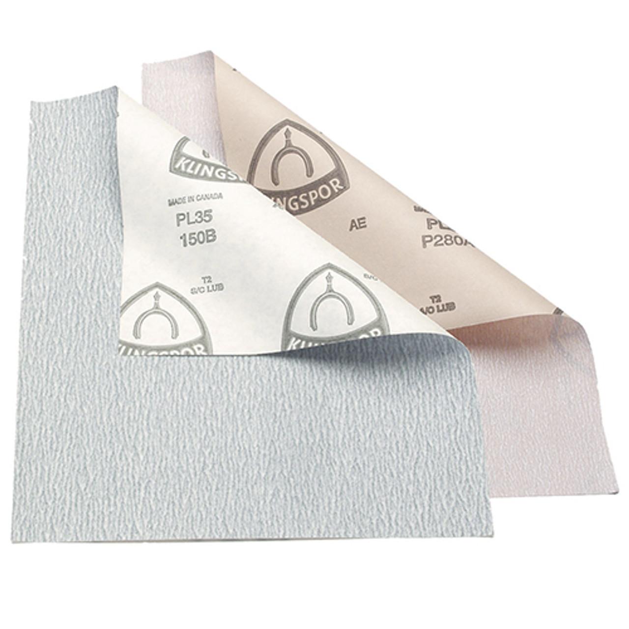"Klingspor Abrasives 150 Grit, Stearated Silicon Carbide, 9""x 11"" Sheets, 50pk"