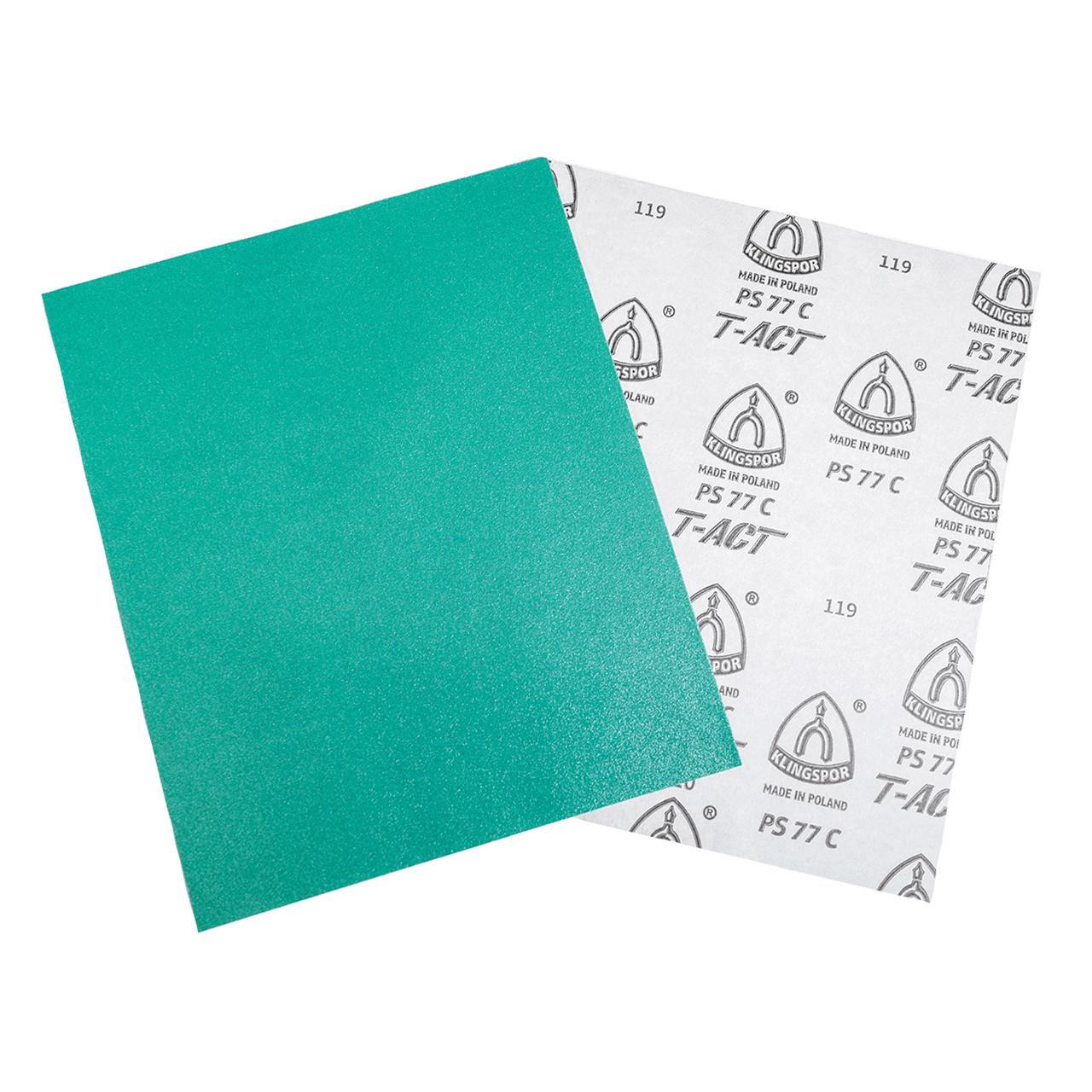 9x11 Klingspor Abrasives GreenTec 120 Grit Sheet 5pk