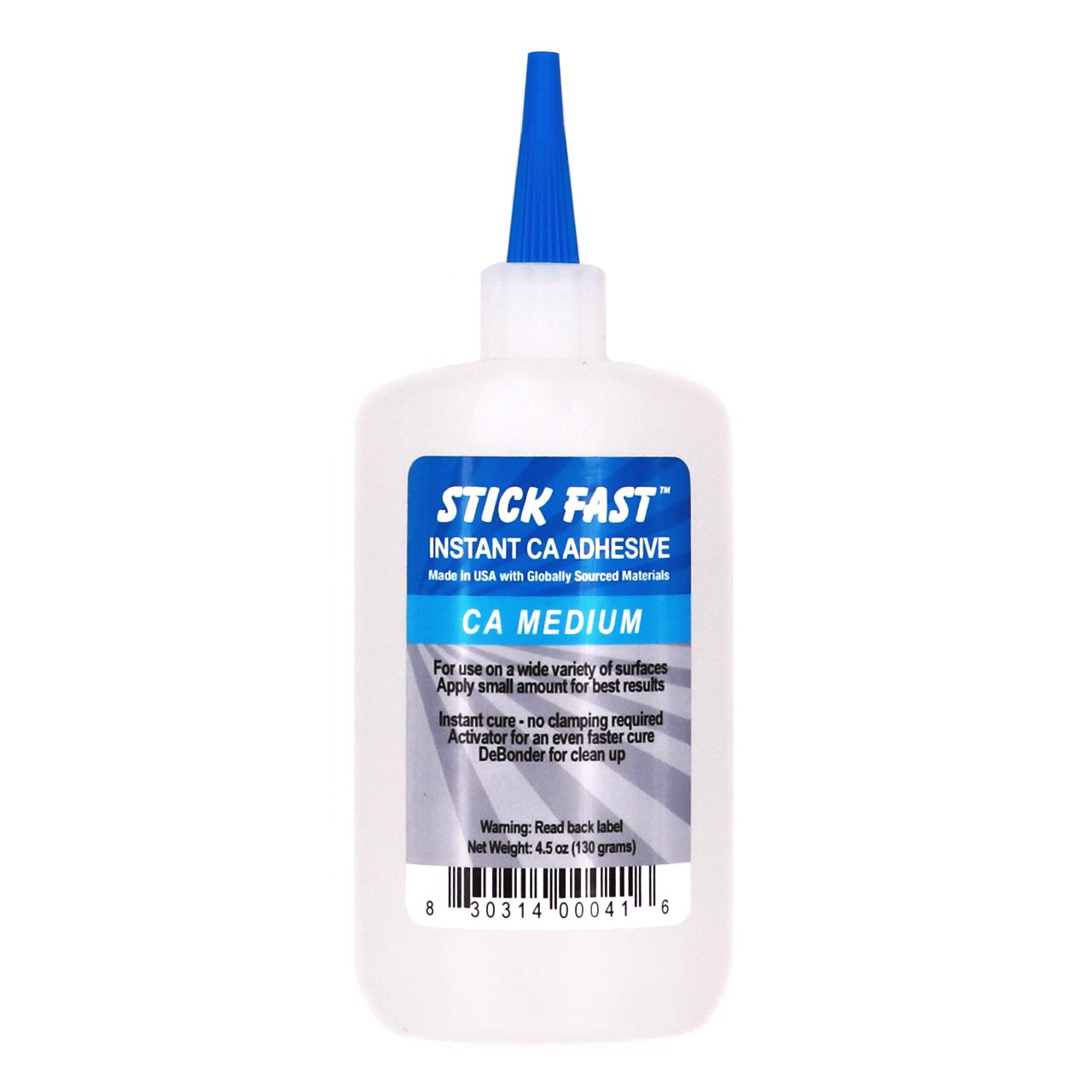 Stick Fast Instant CA Adhesive Glue, Medium Viscosity, 4.5oz Bottle