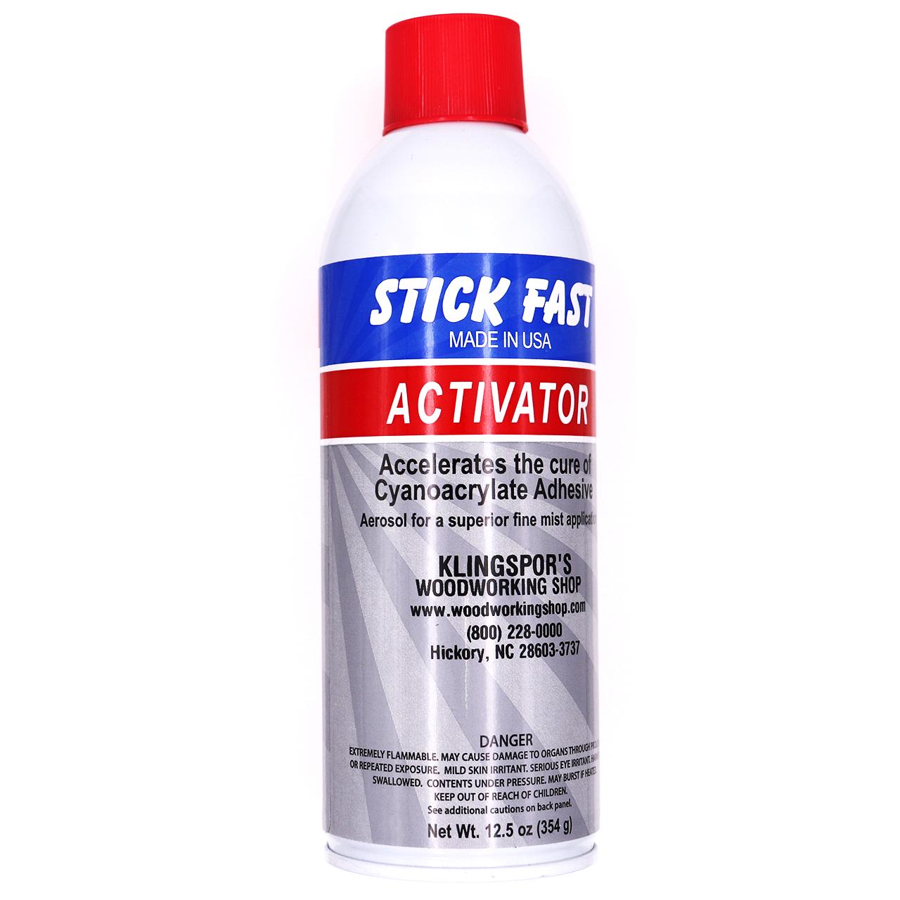 Stick Fast CA Glue Accelerator, Aerosol 12.5oz