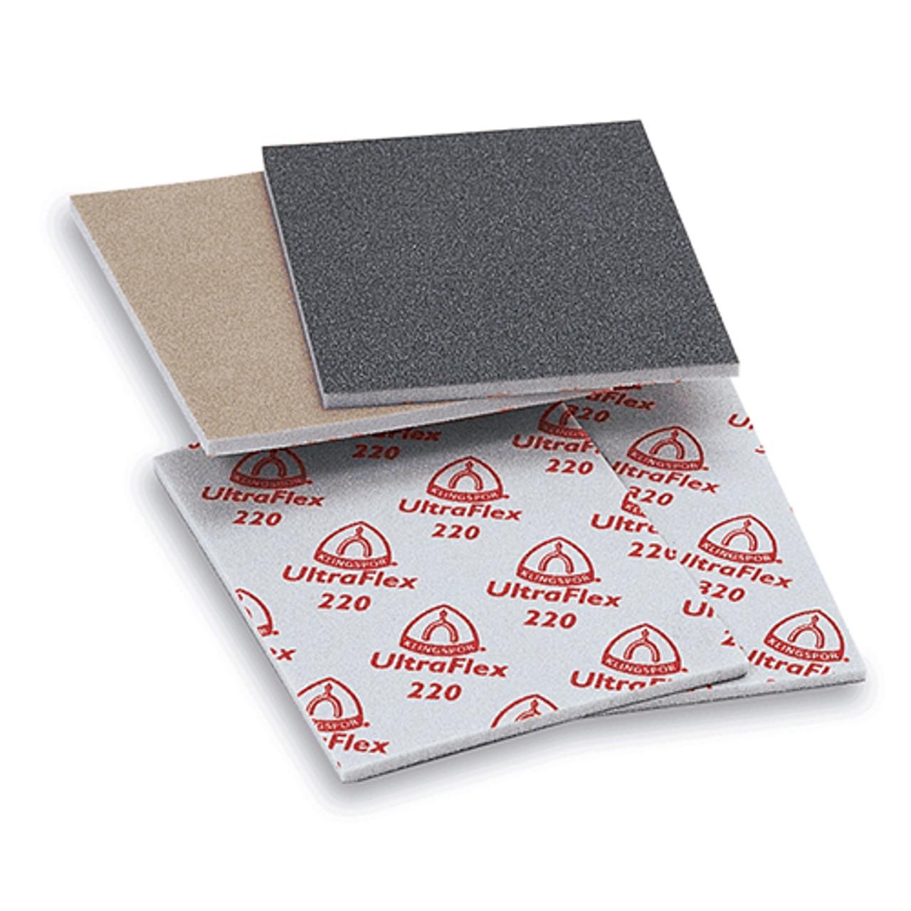 """Klingspor Abrasives Aluminum Oxide UltraFlex Sanding Pads, 4.5""""X 5.5""""X 1/4"""" Thick, 120 Grit, 10PK"""