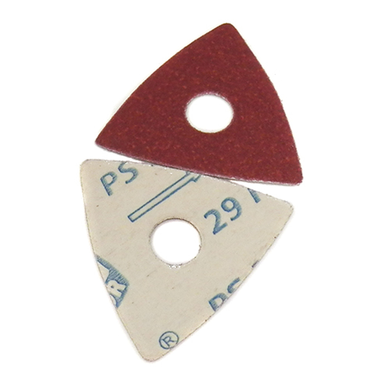 Fein MultiMaster Adhesive Triangles w/Center Hole, Aluminum Oxide, 40 Grit, 50pk