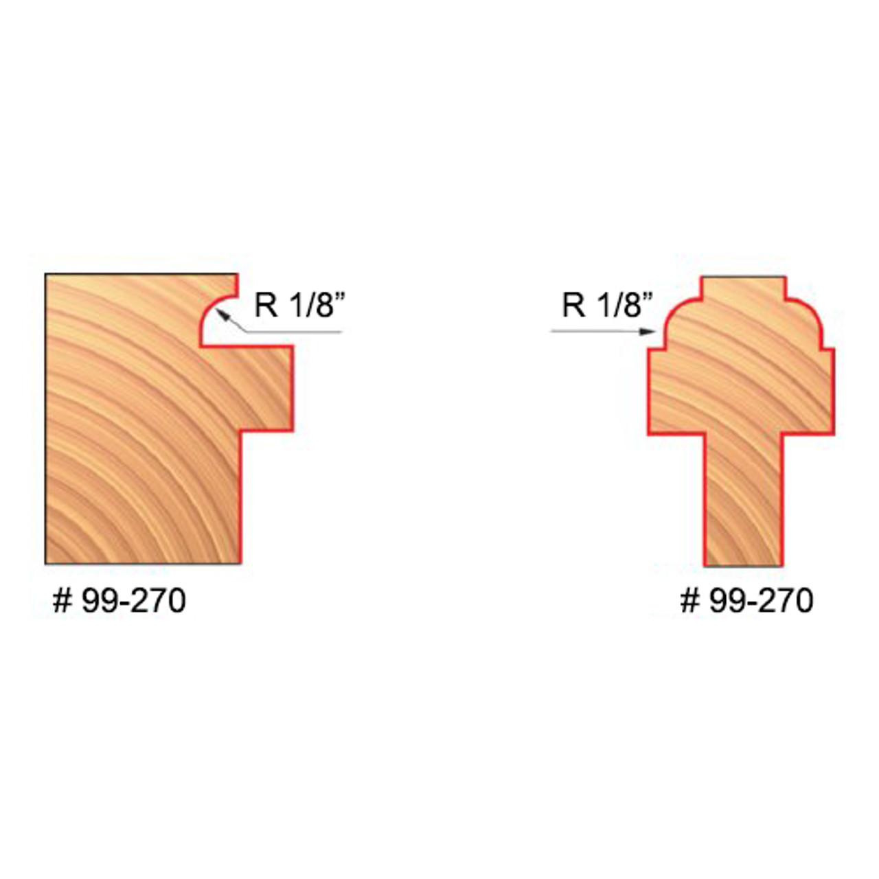 Divided Lite Cabinet Door 1/8 R X 1/2 S