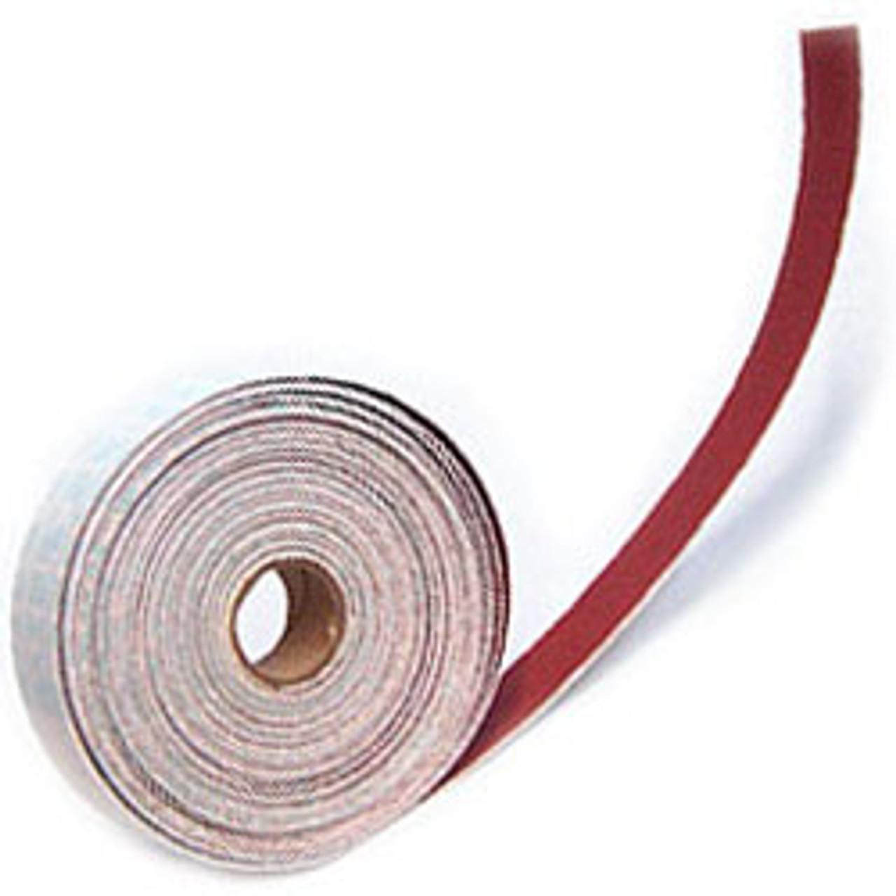 "Klingspor Abrasives Heavyweight Aluminum Oxide, 1-1/8"" Wide X 10 Meter (32Ft) Long, 80 Grit, Hook & Loop Rolls"