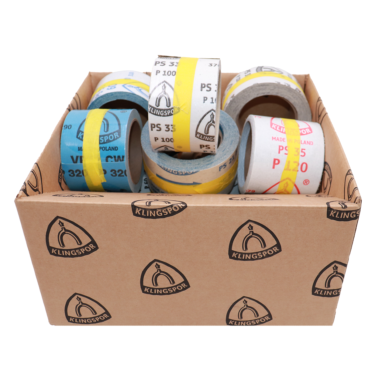 Klingspor Abrasives Bargain Box of Adhesive Rolls - 5 LBS