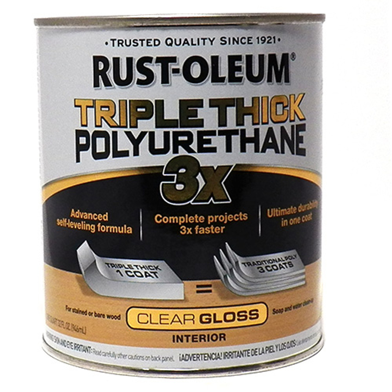 Rustoleum Triple Thick, Polyurethane, Gloss, Quart