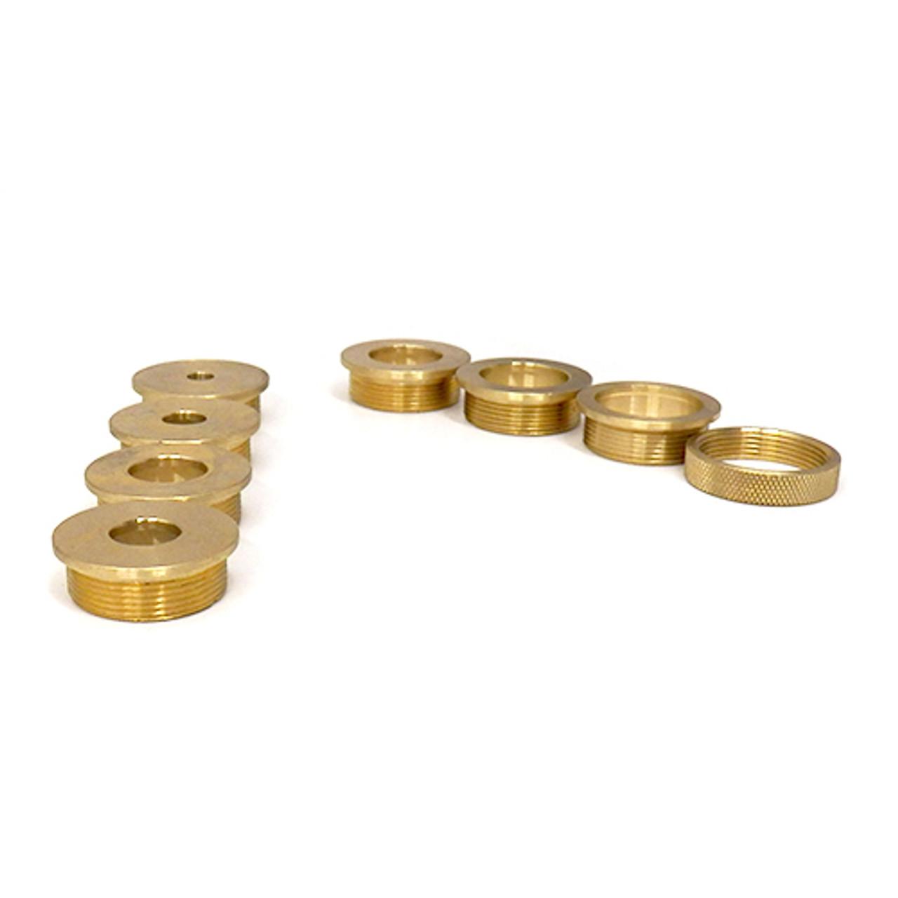 Klingspor Router Accessory, Brass Base Plate Reducers, 8 Piece Set