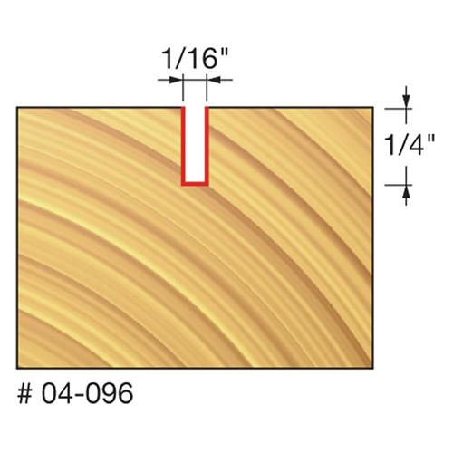 "Freud Double Flute, Straight Bit, 1/16"" Diameter, 1/4"" Carbide Height, 1/4"" Shank"
