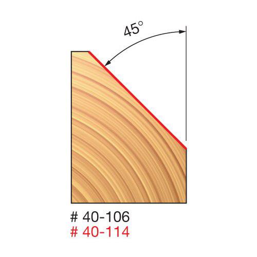 Chamfer 1-3/4 D X 45  X 5/8 CH.