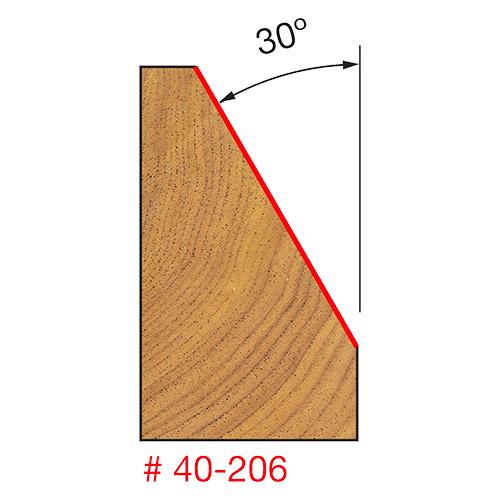 Chamfer 1-11/32 D X 30 Deg. X 3/4 CH