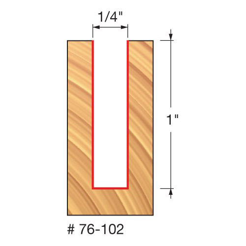 """Freud 1/4"""" Down-Spiral Router Bit, 1"""" Carbide Height, 1/4"""" Shank, 2-1/2"""" Overall Length"""