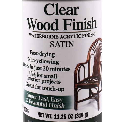 Deft Clear Wood Finish Waterborne Acrylic Finish Satin Aerosol