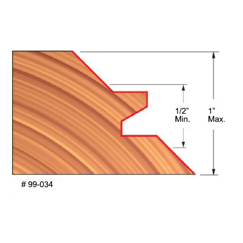 """Freud 1/2""""-1"""" Thick, Lock Miter Bit, 2-3/4"""" Overall Diameter, 1-5/32"""" Carbide 1-11/16"""" Overall Length, 1/2"""" Shank"""