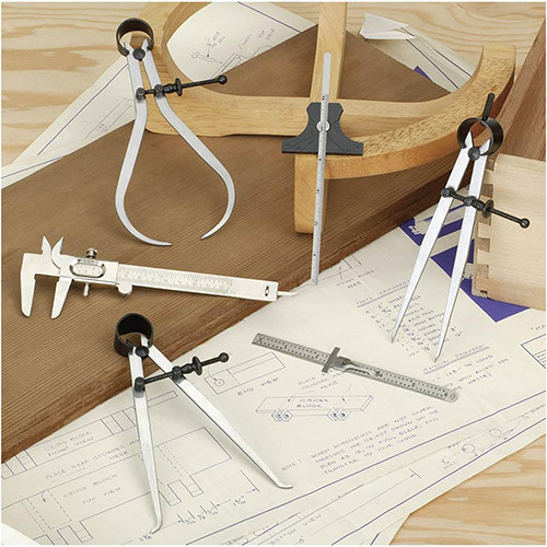6 Piece Caliper & Divider Measuring Set