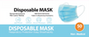 50-Pack of Disposable, Breathable Face Mask 3 Layer Protection Best Facemask, Lightweight Dust Protective Facial Masks for Adult, Men, Women, Indoor, Outdoor Use