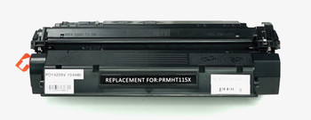 This is the front view of the Hewlett Packard 15X black replacement laserjet toner cartridge by NXT Premium toner