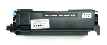 This is the front view of the Kyocera TK-3102 black replacement laserjet toner cartridge by NXT Premium toner