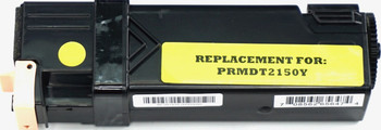 This is the front view of the Dell NPDXG yellow replacement laserjet toner cartridge by NXT Premium toner
