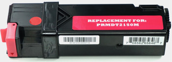 This is the front view of the Dell 8WNV5 magenta replacement laserjet toner cartridge by NXT Premium toner