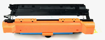 This is the front view of the Hewlett Packard 648A cyan replacement laserjet toner cartridge by NXT Premium toner