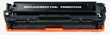 This is the front view of the Hewlett Packard 125A black replacement laserjet toner cartridge by NXT Premium toner