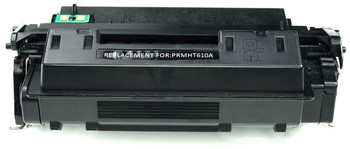 This is the front view of the Hewlett Packard 10A black replacement laserjet toner cartridge by NXT Premium toner