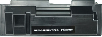 This is the front view of the Kyocera-Mita TK17 black replacement laserjet toner cartridge by NXT Premium toner