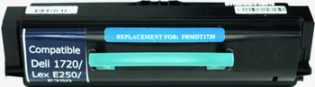 This is the front view of the Dell MW558 black replacement laserjet toner cartridge by NXT Premium toner