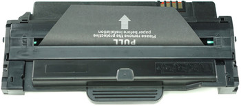 This is the front view of the Samsung MLT-D105L black replacement laserjet toner cartridge by NXT Premium toner