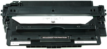 This is the front view of the HP 16A black replacement laserjet toner cartridge by NXT Premium toner