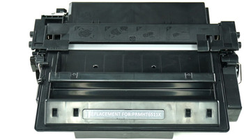 This is the front view of the Hewlett Packard 11X black replacement laserjet toner cartridge by NXT Premium toner