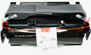 This is the front view of the Kyocera-Mita TK362 black replacement laserjet toner cartridge by NXT Premium toner