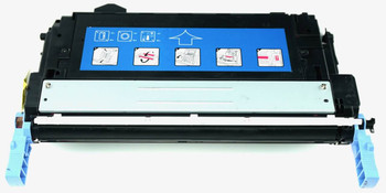 This is the front view of the Hewlett Packard 643A magenta replacement laserjet toner cartridge by NXT Premium toner