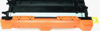 This is the front view of the Hewlett Packard 504A black replacement laserjet toner cartridge by NXT Premium toner