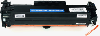 This is the back view of the Canon 118 cyan replacement laserjet toner cartridge by NXT Premium toner
