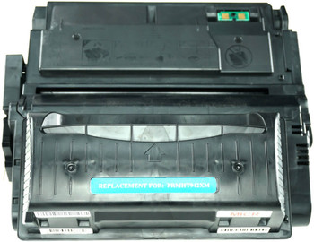 This is the front view of the Hewlett Packard 42X MICR replacement laserjet toner cartridge by NXT Premium toner