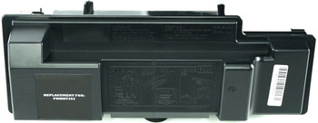This is the front view of the Kyocera TK352 black replacement laserjet toner cartridge by NXT Premium toner